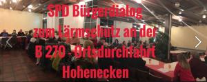 Mehr als 40 Anwohnerinnen und Anwohner kamen zum SPD Bürgergespräch zur B 270 - Ortsdurchfahrt Hohenecken